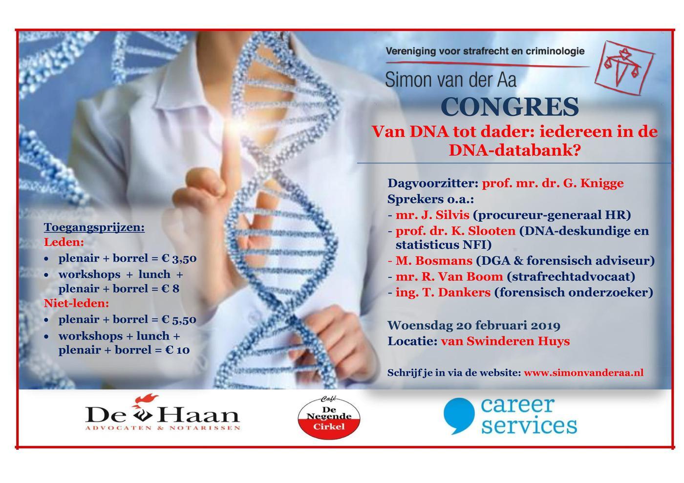 Congres: van DNA tot dader: allemaal in de databank?