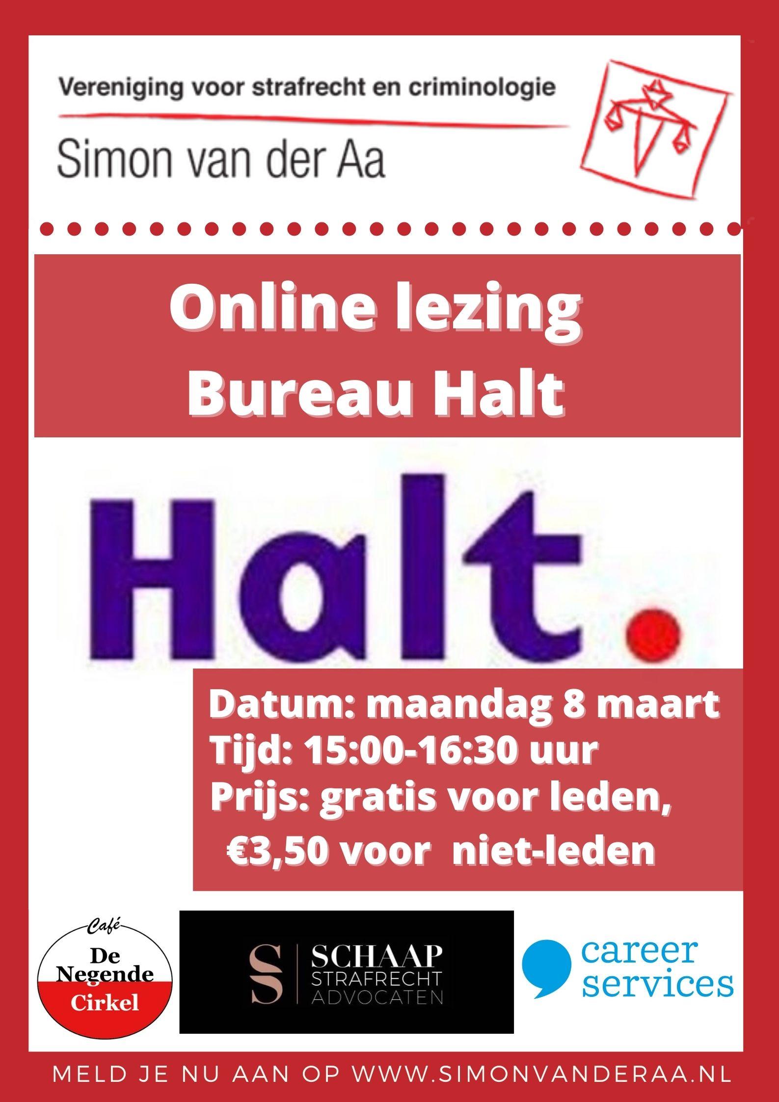 Online lezing Bureau Halt