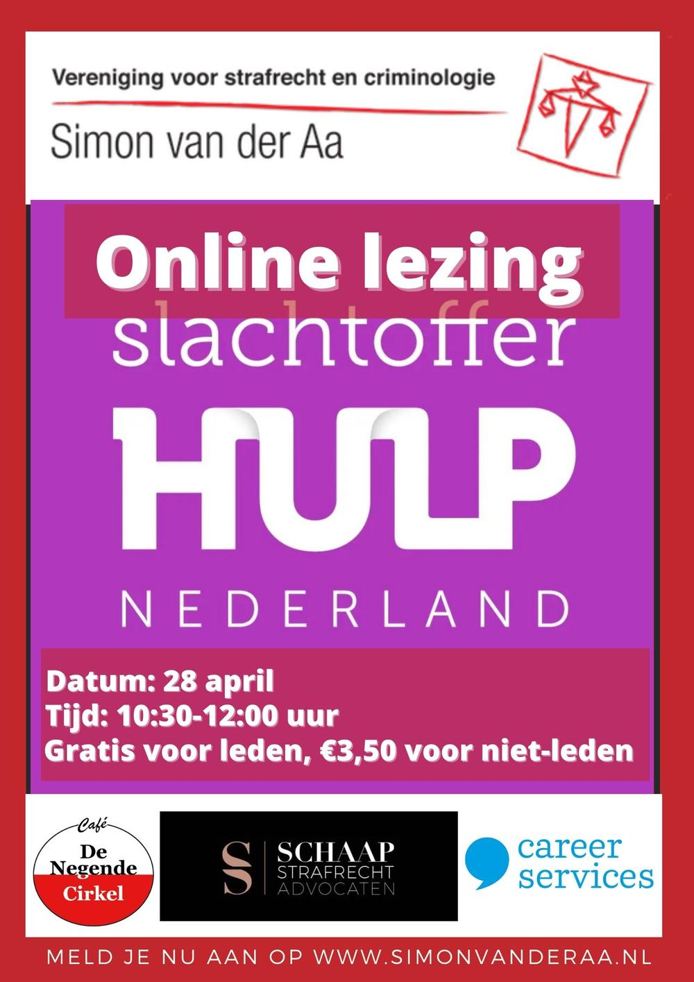 Online lezing Slachtofferhulp Nederland