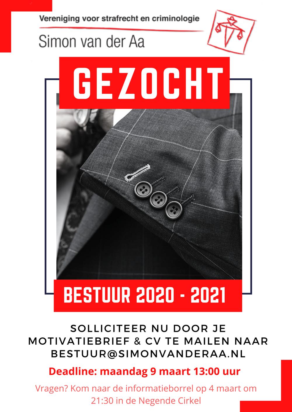 GEZOCHT: Bestuur 2020-2021